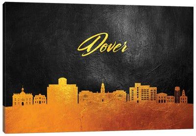 Dover Delaware Gold Skyline Canvas Art Print