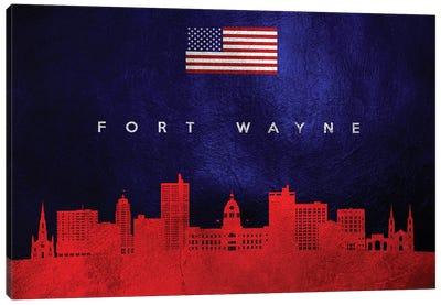 Fort Wayne Indiana Skyline Canvas Art Print