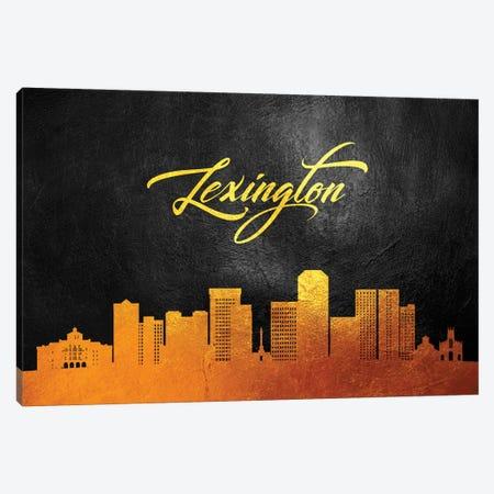 Lexington Kentucky Gold Skyline Canvas Print #ABV366} by Adrian Baldovino Canvas Art Print