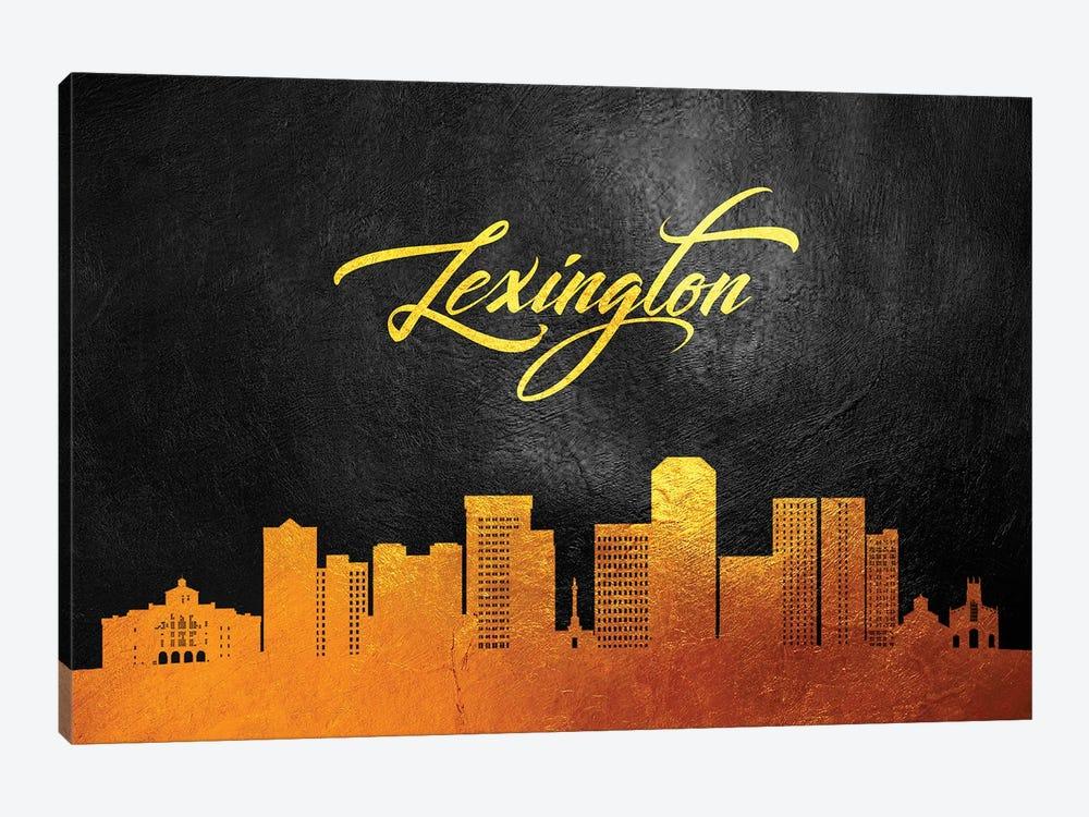 Lexington Kentucky Gold Skyline by Adrian Baldovino 1-piece Canvas Artwork