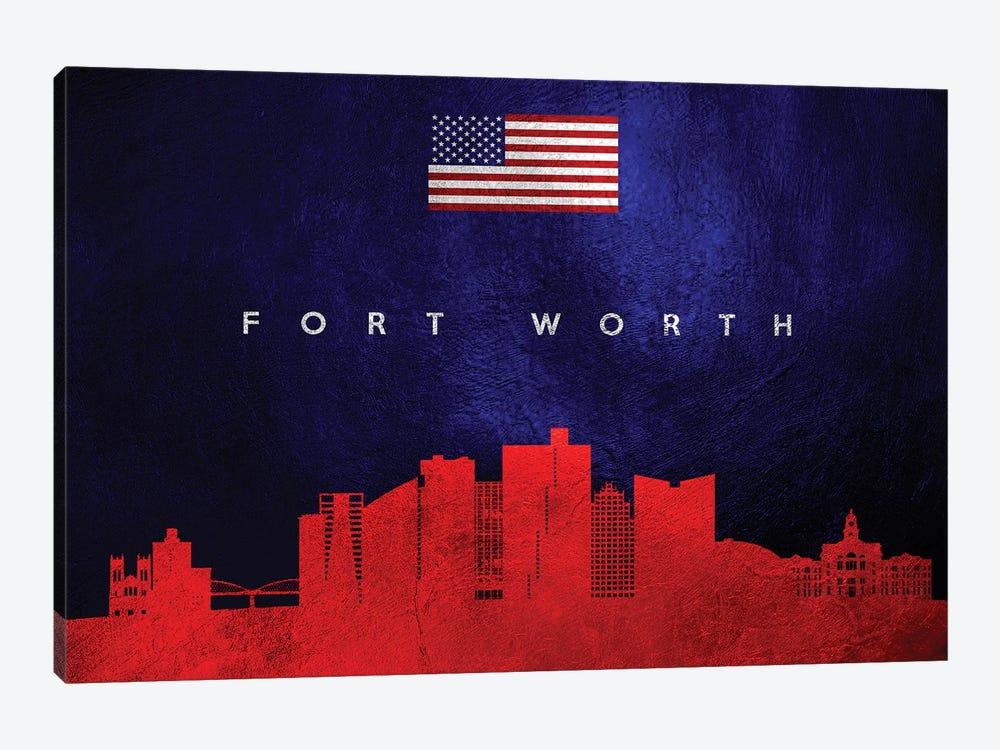 Fort Worth Texas Skyline by Adrian Baldovino 1-piece Canvas Wall Art