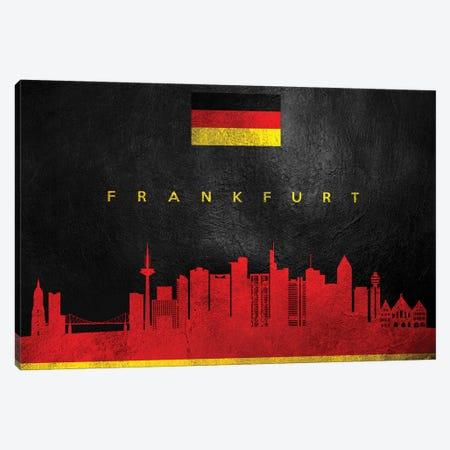Frankfurt Germany Skyline Canvas Print #ABV37} by Adrian Baldovino Canvas Art