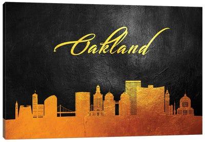 Oakland California Gold Skyline Canvas Art Print