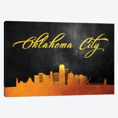 Oklahoma City Skyline Canvas Print #ABV383} by Adrian Baldovino Canvas Wall Art