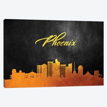 Phoenix Arizona Gold Skyline Canvas Print #ABV386} by Adrian Baldovino Art Print