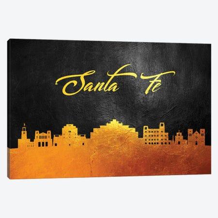 Santa Fe New Mexico Gold Skyline Canvas Print #ABV397} by Adrian Baldovino Canvas Wall Art