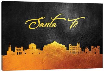 Santa Fe New Mexico Gold Skyline Canvas Art Print