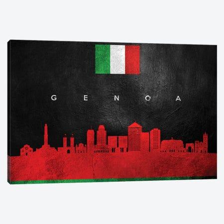 Genoa Italy Skyline Canvas Print #ABV39} by Adrian Baldovino Canvas Print