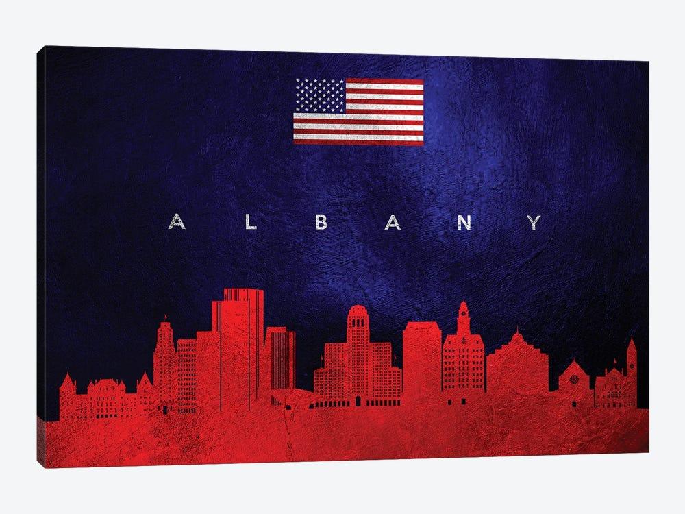Albany New York Skyline by Adrian Baldovino 1-piece Art Print