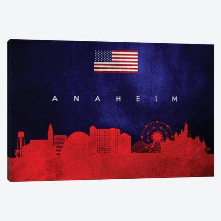 Anaheim California Skyline Canvas Print #ABV408} by Adrian Baldovino Canvas Art Print