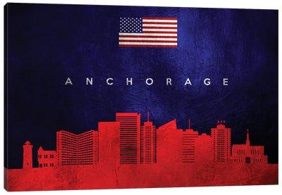 Anchorage Alaska Skyline Canvas Art Print