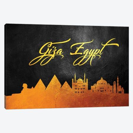Giza Egypt Gold Skyline Canvas Print #ABV40} by Adrian Baldovino Canvas Art