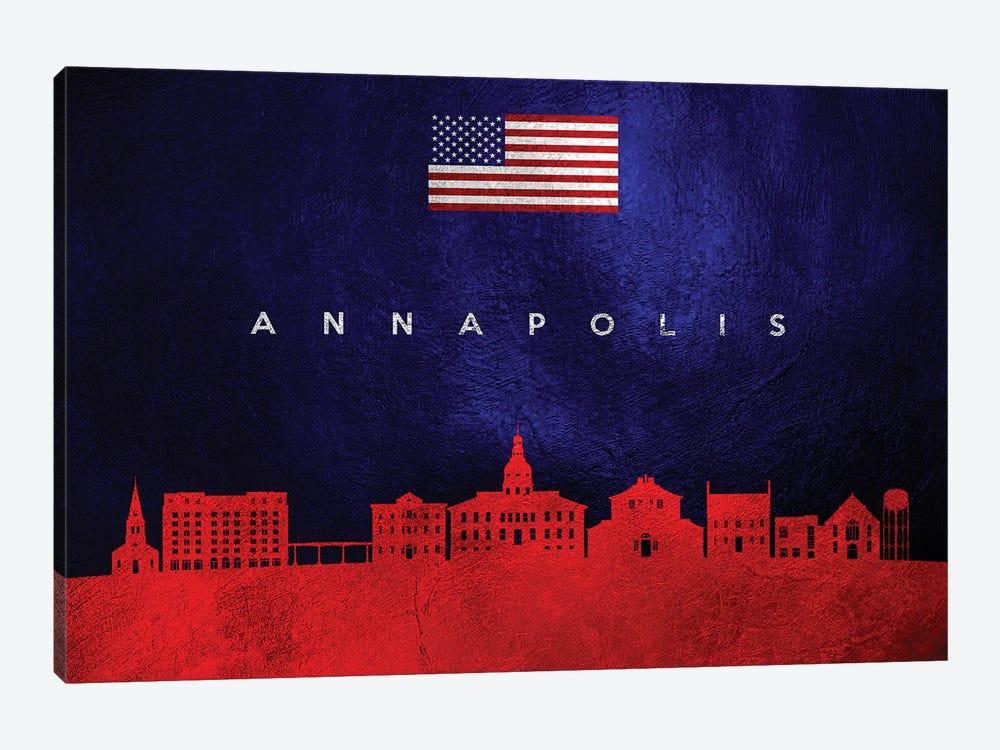 Annapolis Maryland Skyline by Adrian Baldovino 1-piece Canvas Wall Art