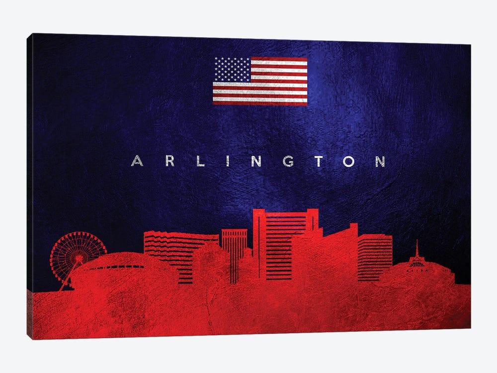 Arlington Texas Skyline by Adrian Baldovino 1-piece Canvas Print