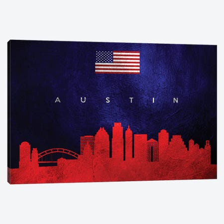 Austin Texas Skyline Canvas Print #ABV415} by Adrian Baldovino Canvas Print