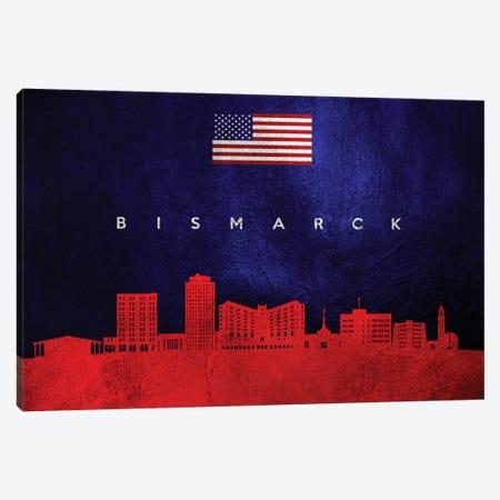 Bismarck North Dakota Skyline Canvas Print #ABV418} by Adrian Baldovino Canvas Artwork