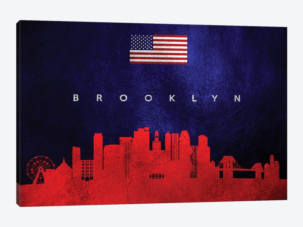 Brooklyn New York Skyline by Adrian Baldovino 1-piece Canvas Print
