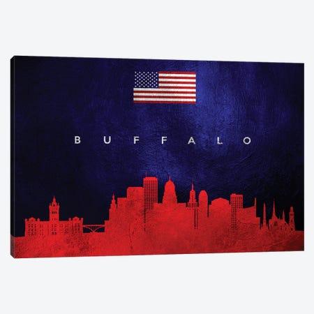 Buffalo New York Skyline Canvas Print #ABV422} by Adrian Baldovino Canvas Art Print