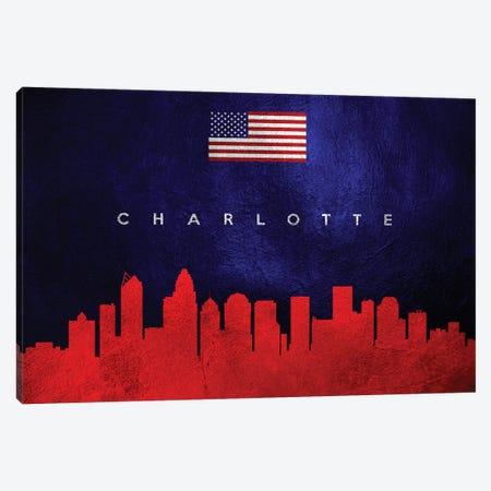 Charlotte North Carolina Skyline Canvas Print #ABV423} by Adrian Baldovino Art Print