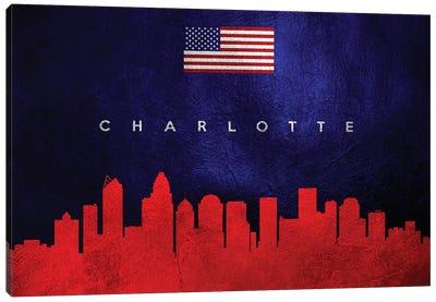 Charlotte North Carolina Skyline Canvas Art Print