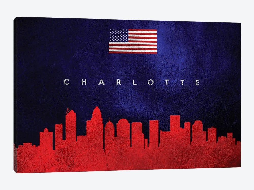 Charlotte North Carolina Skyline by Adrian Baldovino 1-piece Canvas Artwork