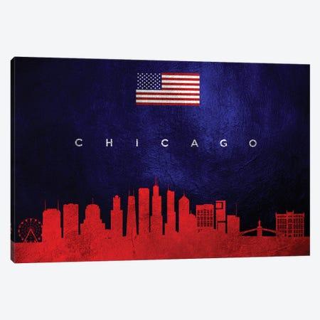 Chicago Illinois Skyline Canvas Print #ABV424} by Adrian Baldovino Canvas Artwork