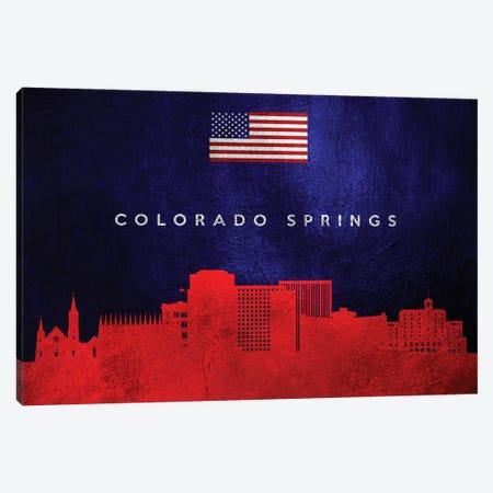Colorado Springs Skyline Canvas Print #ABV426} by Adrian Baldovino Canvas Artwork