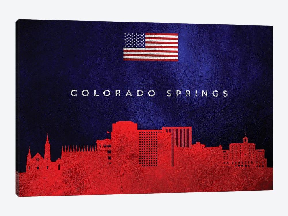 Colorado Springs Skyline by Adrian Baldovino 1-piece Canvas Print