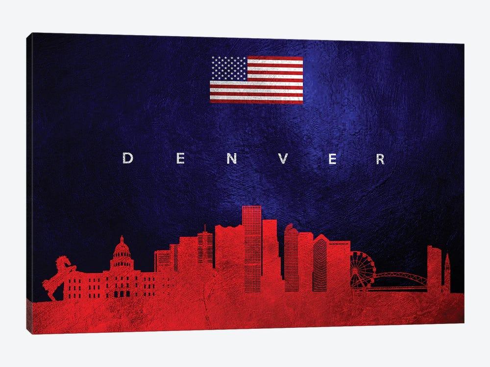 Denver Colorado Skyline by Adrian Baldovino 1-piece Canvas Art