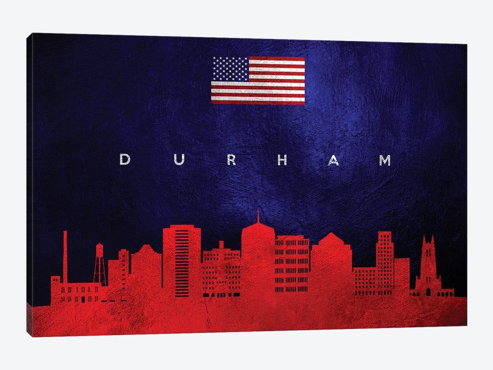 Durham North Carolina Skyline by Adrian Baldovino 1-piece Canvas Art