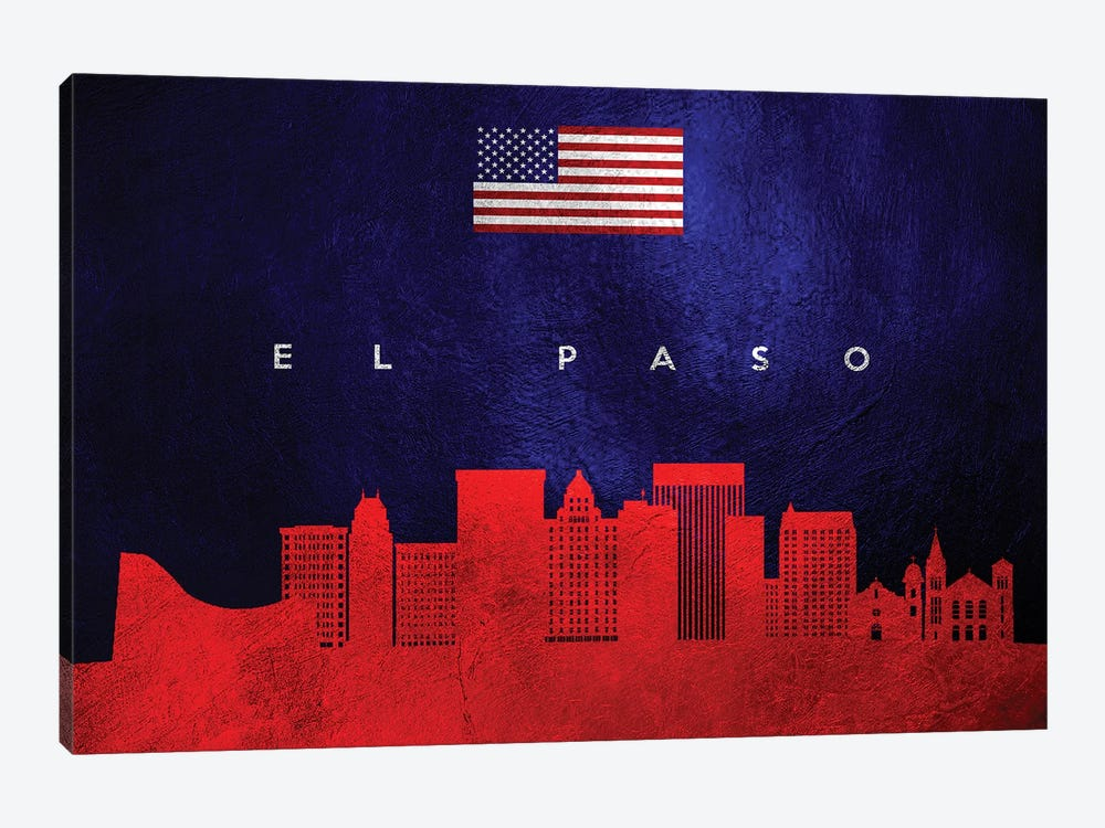 El Paso Texas Skyline by Adrian Baldovino 1-piece Art Print