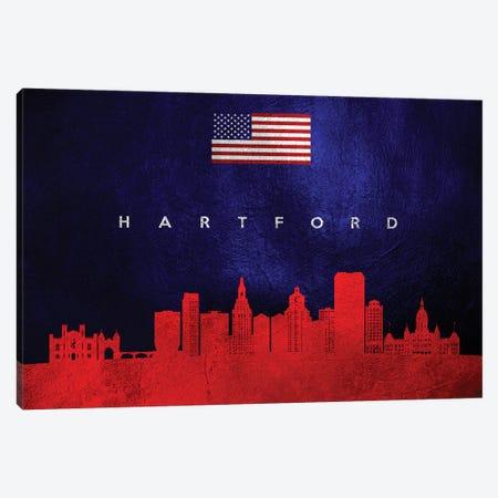 Hartford Connecticut Skyline Canvas Print #ABV435} by Adrian Baldovino Canvas Print