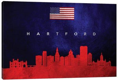 Hartford Connecticut Skyline Canvas Art Print
