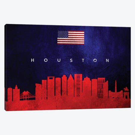 Houston Texas Skyline Canvas Print #ABV436} by Adrian Baldovino Canvas Print