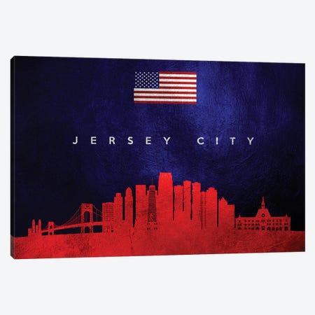 Jersey City New Jersey Skyline Canvas Print #ABV439} by Adrian Baldovino Canvas Artwork