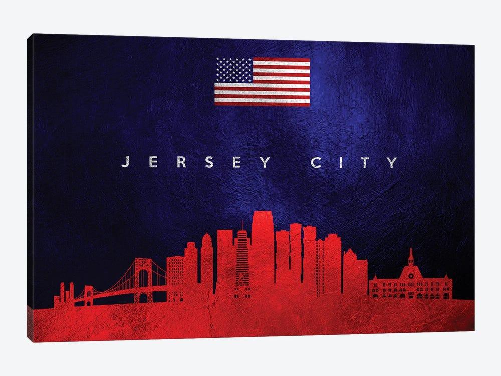 Jersey City New Jersey Skyline by Adrian Baldovino 1-piece Art Print