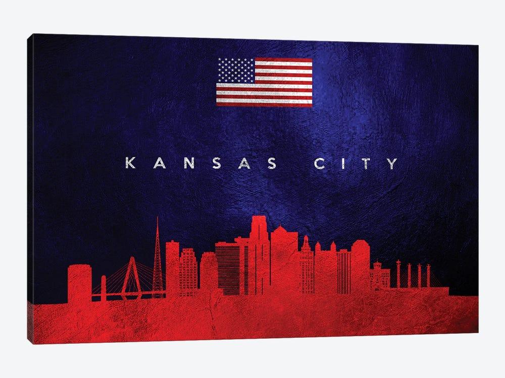 Kansas City Missouri Skyline by Adrian Baldovino 1-piece Art Print