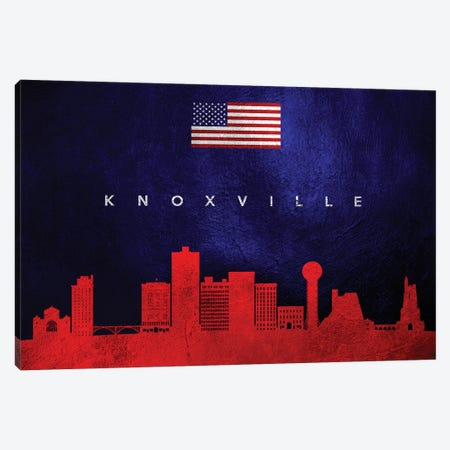 Knoxville Tennessee Skyline Canvas Print #ABV441} by Adrian Baldovino Canvas Print