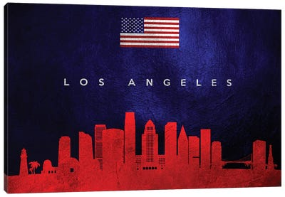 Los Angeles California Skyline Canvas Art Print