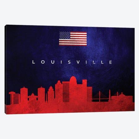 Louisville Kentucky Skyline Canvas Print #ABV443} by Adrian Baldovino Art Print
