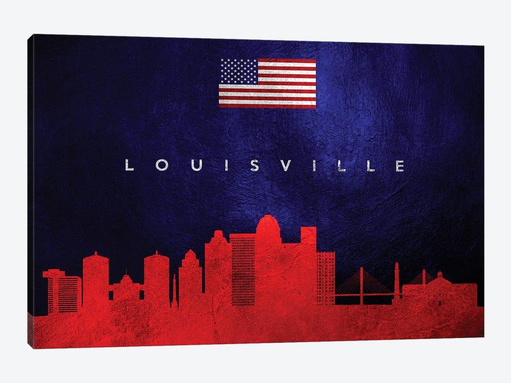 Louisville Kentucky Skyline by Adrian Baldovino 1-piece Canvas Art
