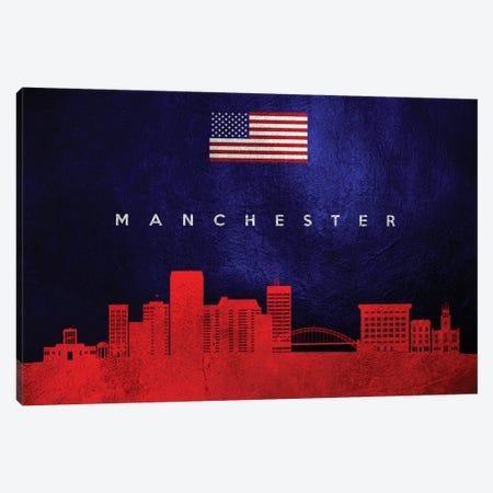 Manchester New Hampshire Skyline Canvas Print #ABV446} by Adrian Baldovino Canvas Art