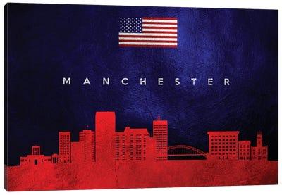 Manchester New Hampshire Skyline Canvas Art Print