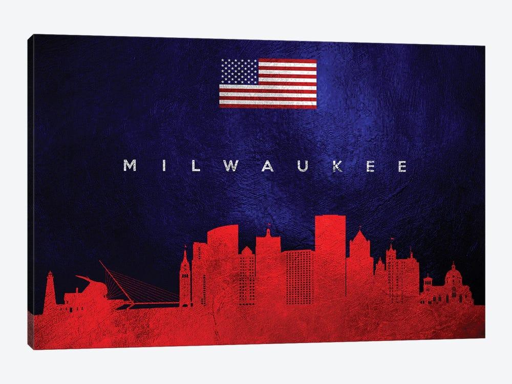 Milwaukee Wisconsin Skyline by Adrian Baldovino 1-piece Canvas Art