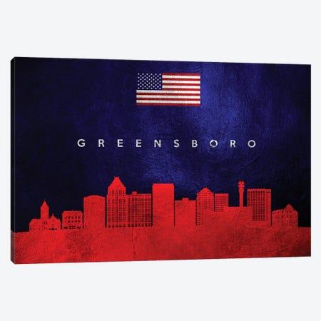 Greensboro North Carolina Skyline Canvas Print #ABV44} by Adrian Baldovino Art Print