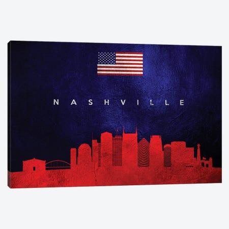 Nashville Tennessee Skyline Canvas Print #ABV450} by Adrian Baldovino Canvas Wall Art