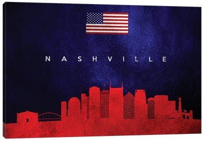 Nashville Tennessee Skyline Canvas Art Print