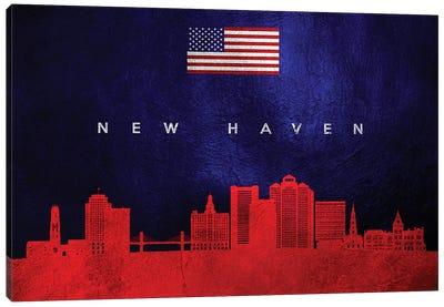 New Haven Connecticut Skyline Canvas Art Print