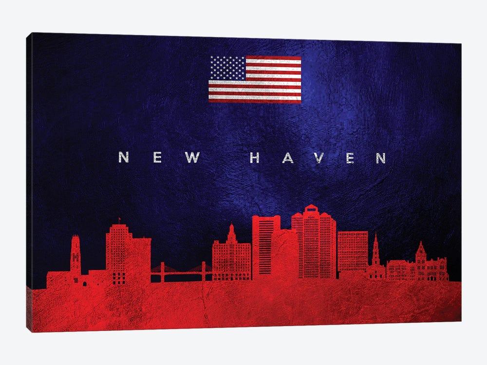 New Haven Connecticut Skyline by Adrian Baldovino 1-piece Art Print