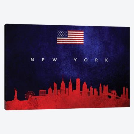 New York Skyline 2 Canvas Print #ABV453} by Adrian Baldovino Canvas Artwork